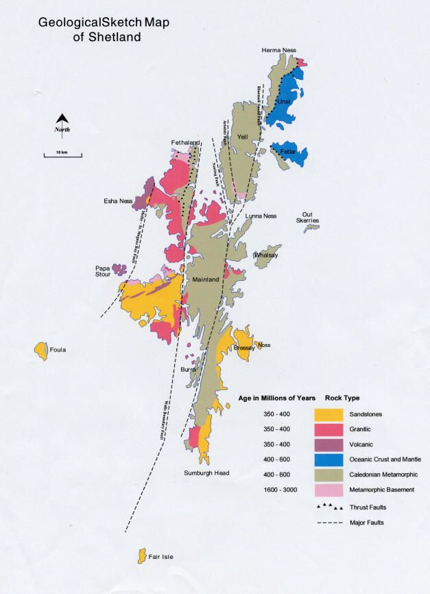 Viking Archaeology - Geological Map of Shetland